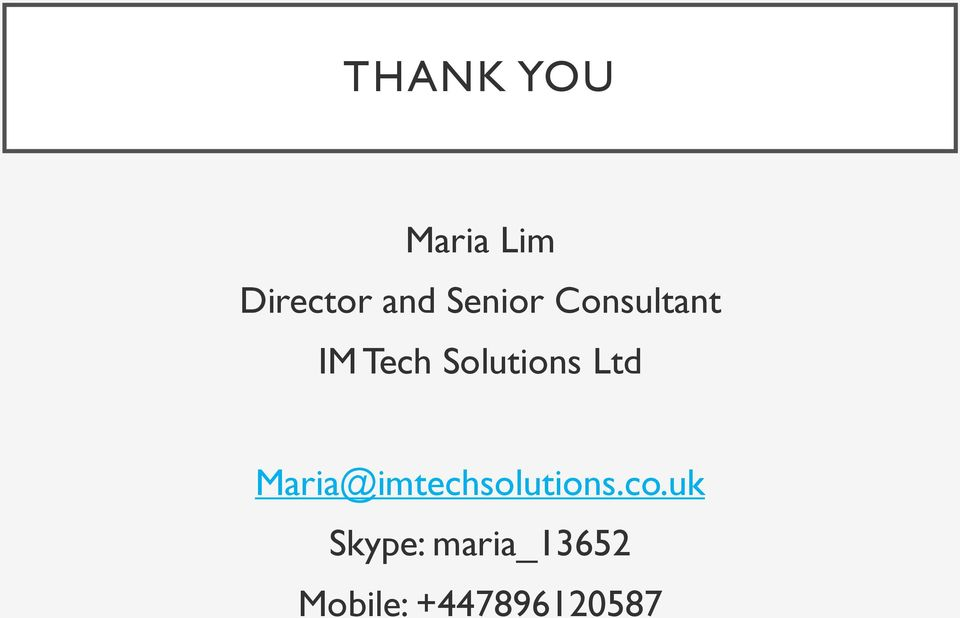 Ltd Maria@imtechsolutions.co.