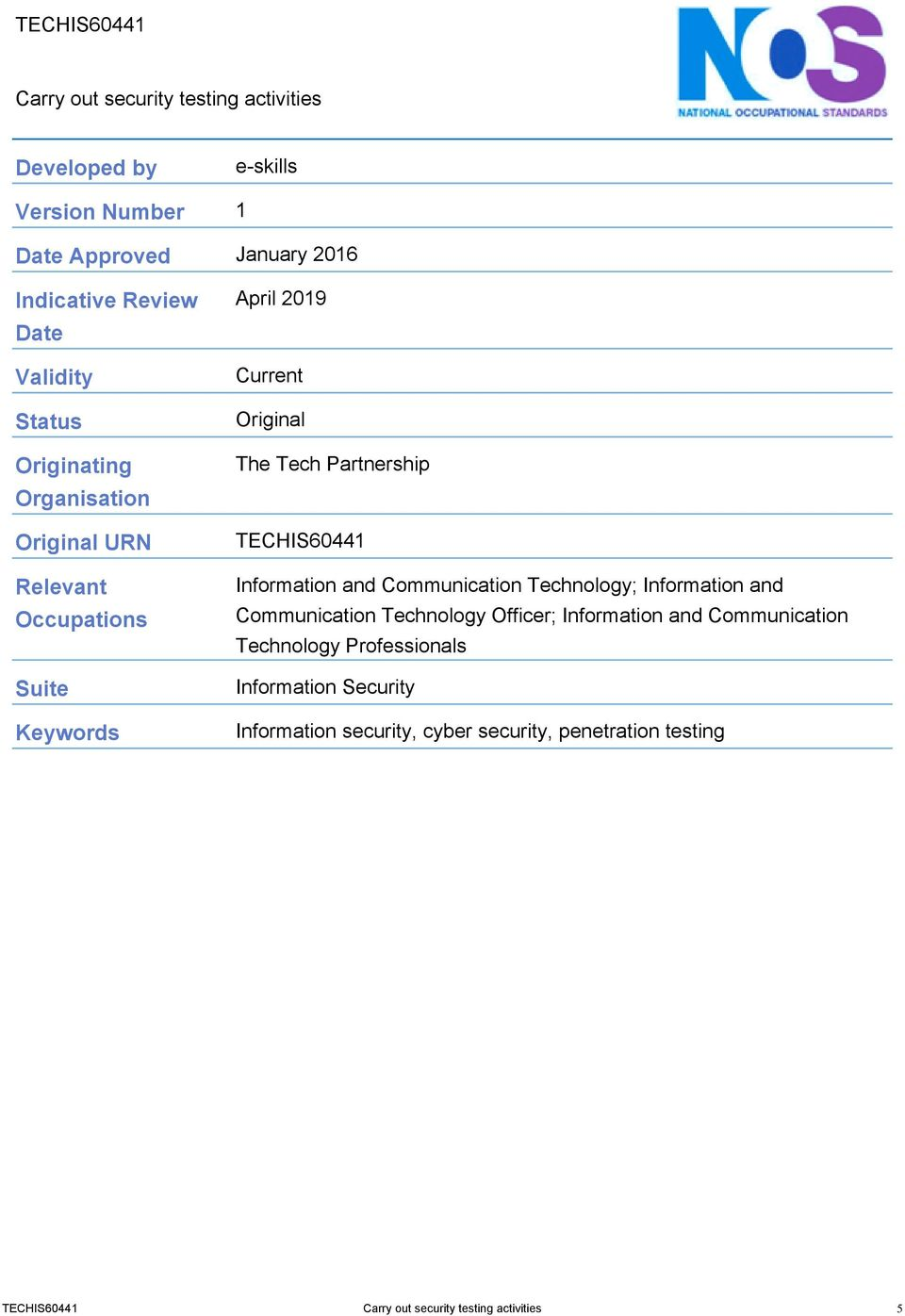 TECHIS60441 Information and Communication Technology; Information and Communication Technology Officer; Information and