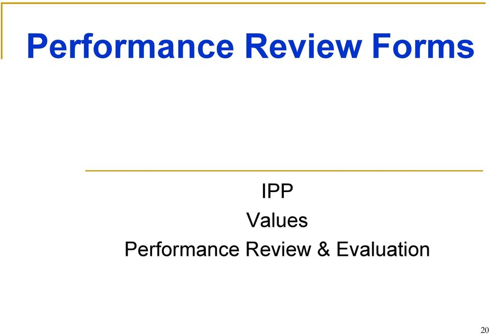 Values  Review &