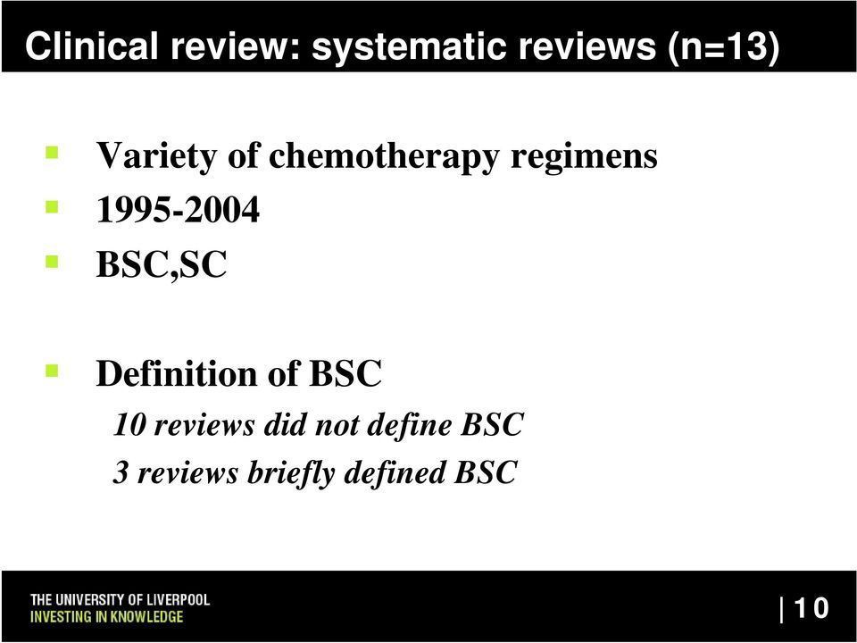 BSC,SC Definition of BSC 10 reviews did not