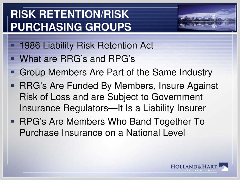 Insure Against Risk of Loss and are Subject to Government Insurance Regulators It Is a