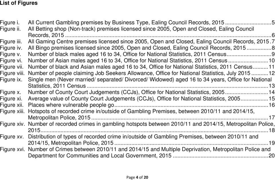 All Gaming Centre premises licensed since 2005, Open and Closed, Ealing Council Records, 2015. 7 Figure iv. All Bingo premises licensed since 2005, Open and Closed, Ealing Council Records, 2015.