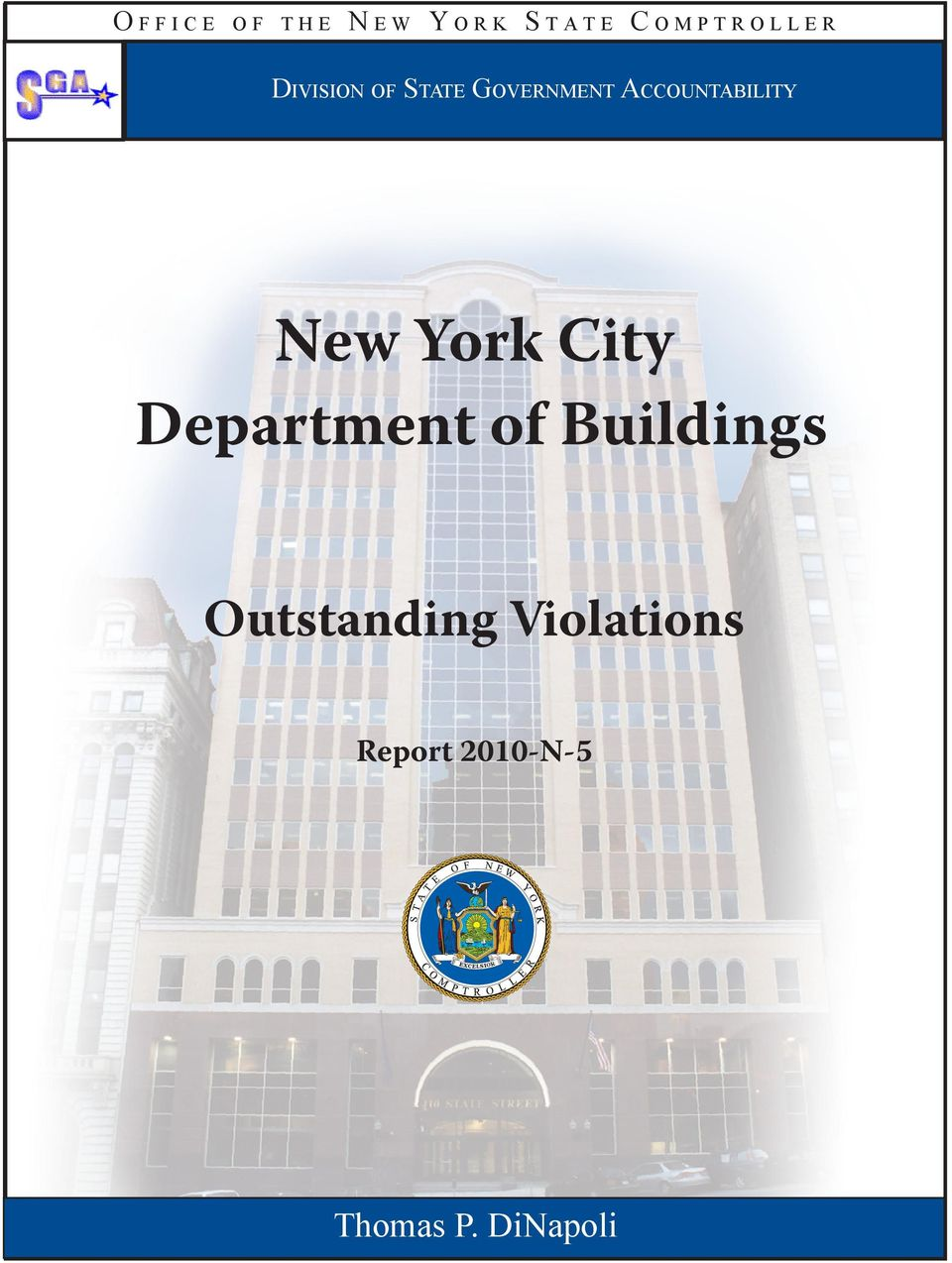 Accountability New York City Department of