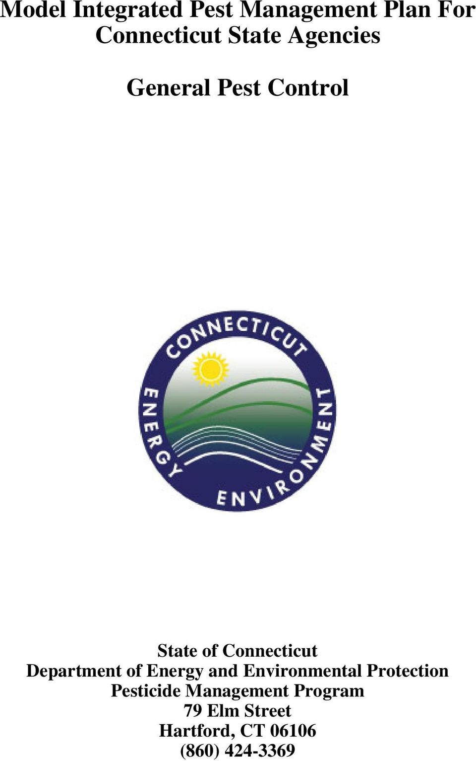 Department of Energy and Environmental Protection Pesticide