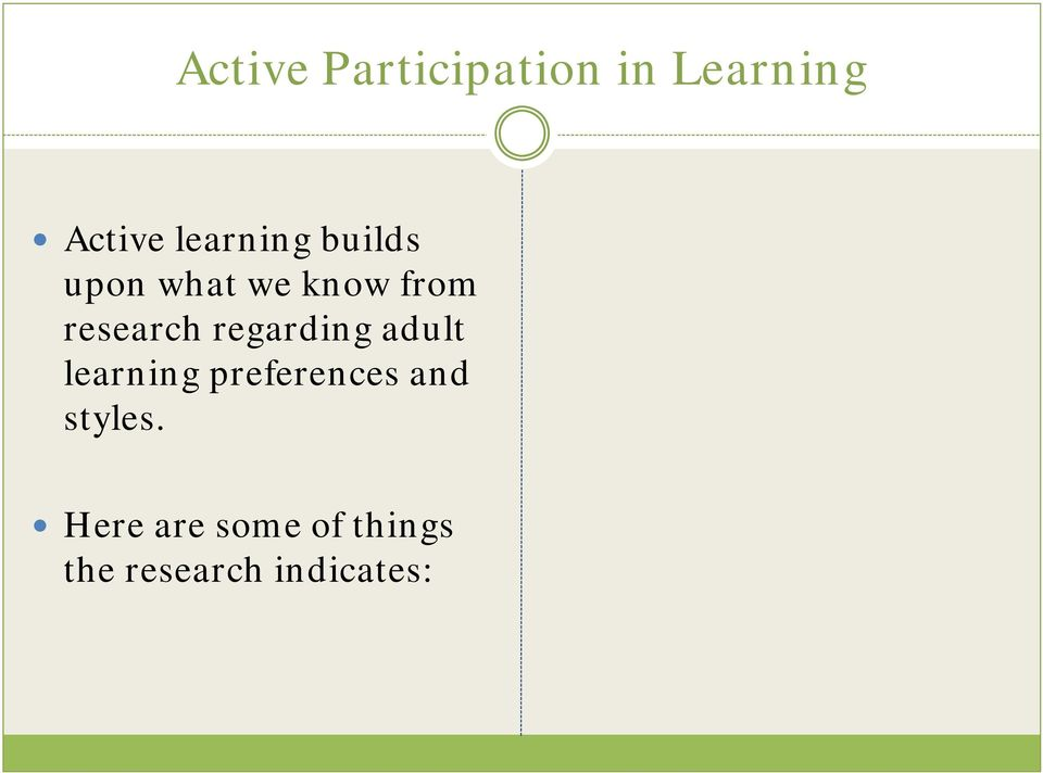 research regarding adult learning preferences