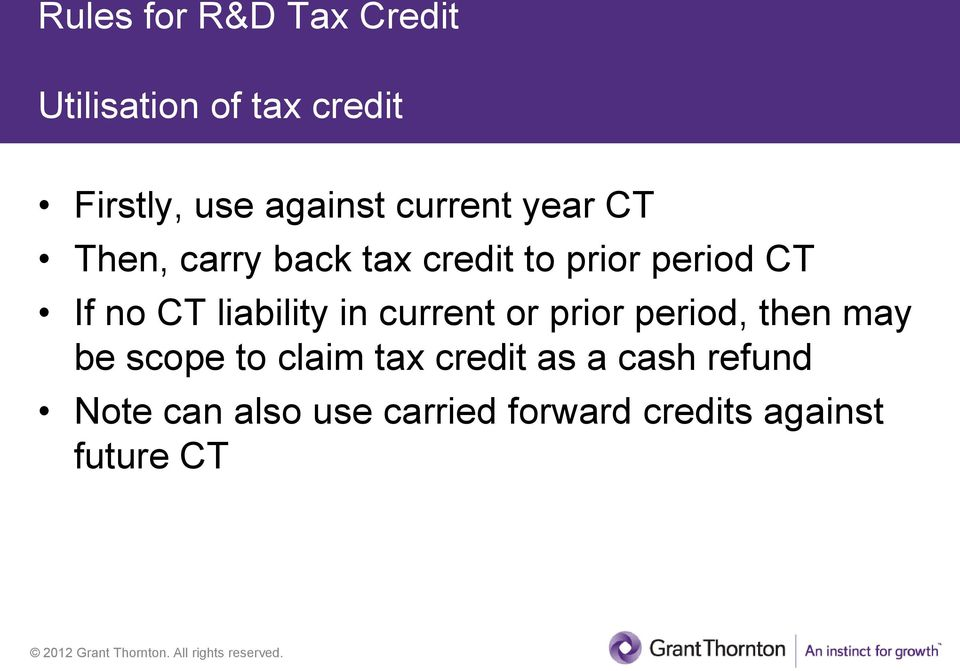 liability in current or prior period, then may be scope to claim tax