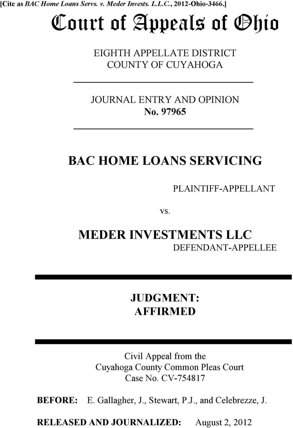 97965 BAC HOME LOANS SERVICING vs.