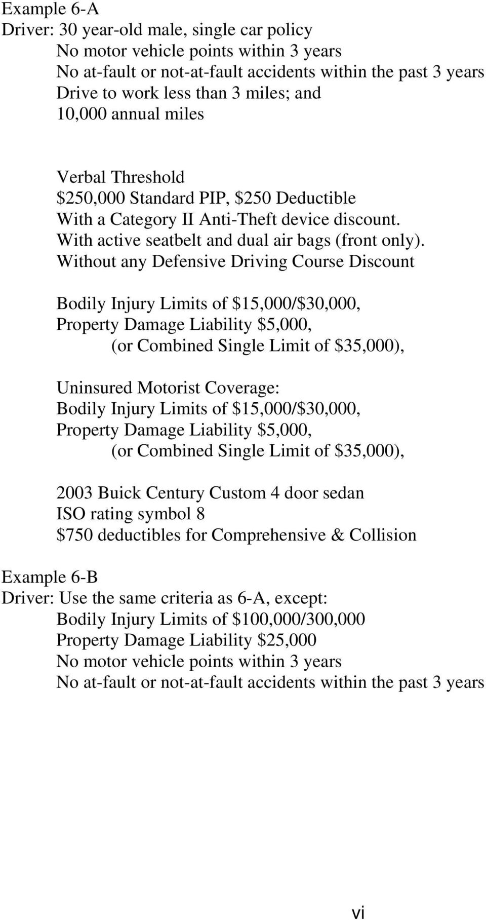 Bodily Injury Limits of $15,000/$30,000, Property Damage Liability $5,000, (or Combined Single Limit of $35,000), Uninsured Motorist Coverage: Bodily Injury Limits of $15,000/$30,000, Property Damage