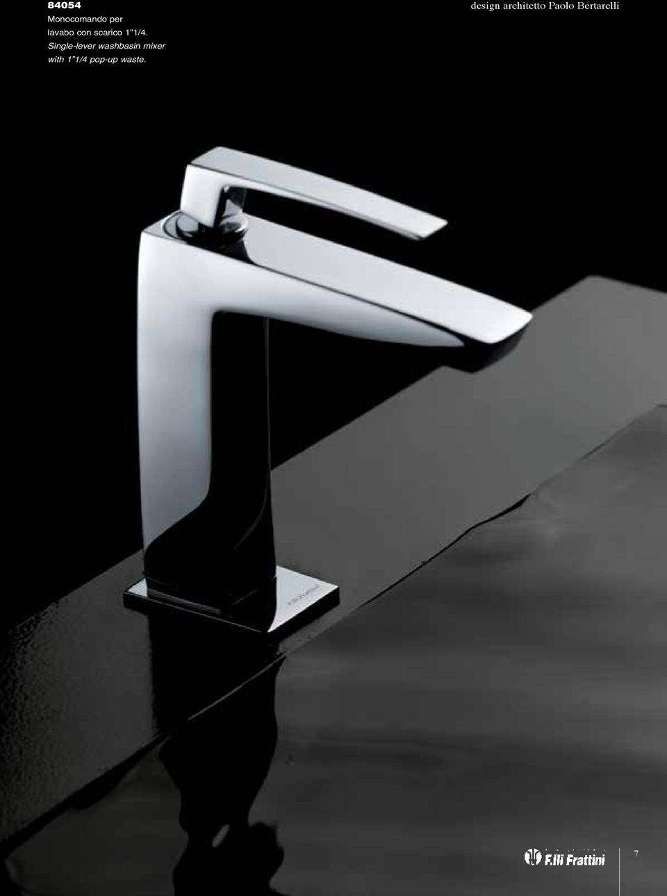 Single-lever washbasin mixer with
