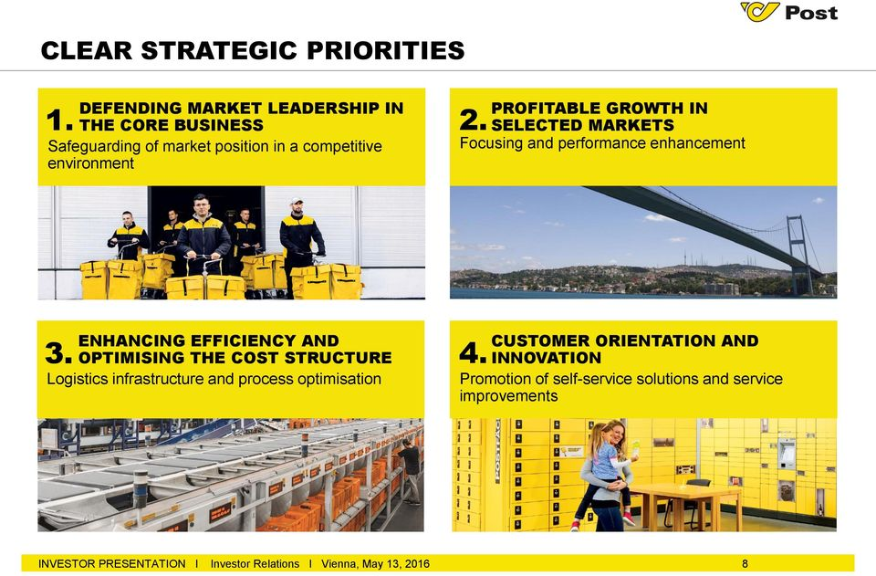 PROFITABLE GROWTH IN SELECTED MARKETS Focusing and performance enhancement ENHANCING EFFICIENCY AND OPTIMISING THE COST