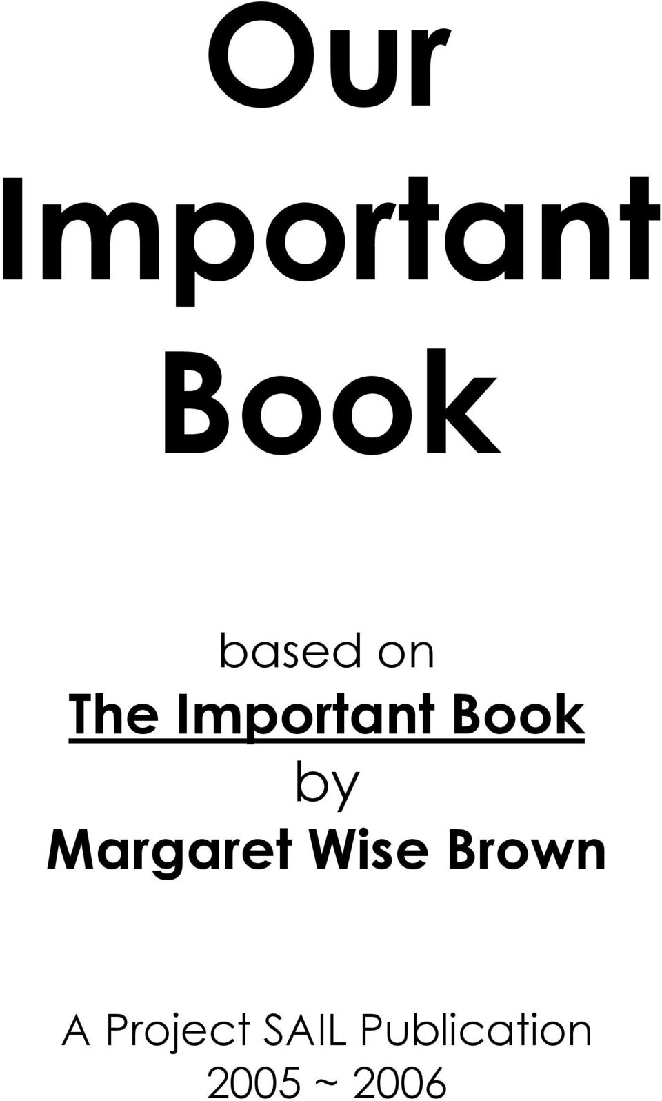 Margaret Wise Brown A