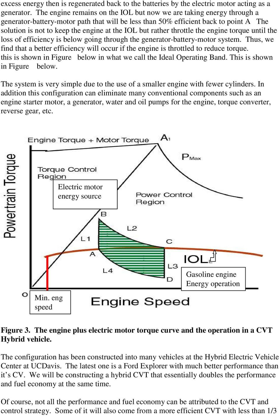 IOL but rather throttle the engine torque until the loss of efficiency is below going through the generator-battery-motor system.