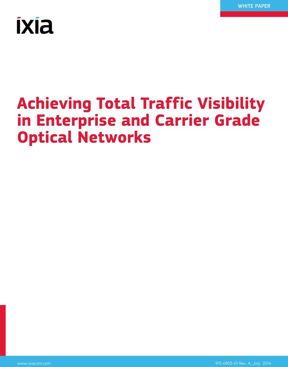 Carrier Grade Optical Networks www.