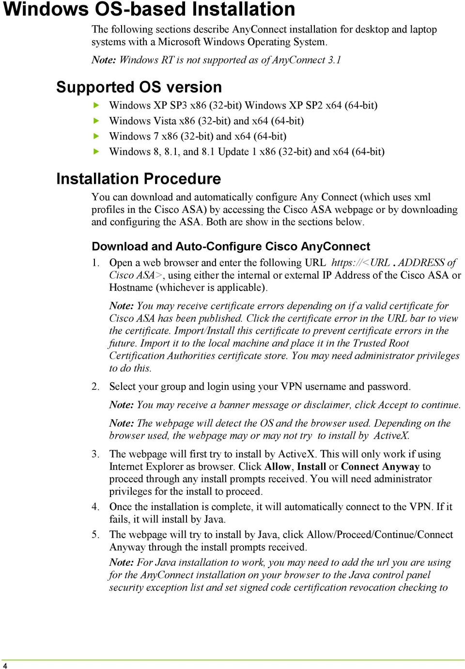 Cisco AnyConnect Client Installation Guide - PDF