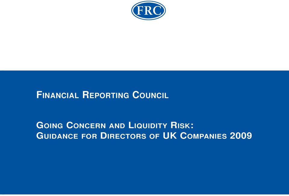 LIQUIDITY RISK: GUIDANCE