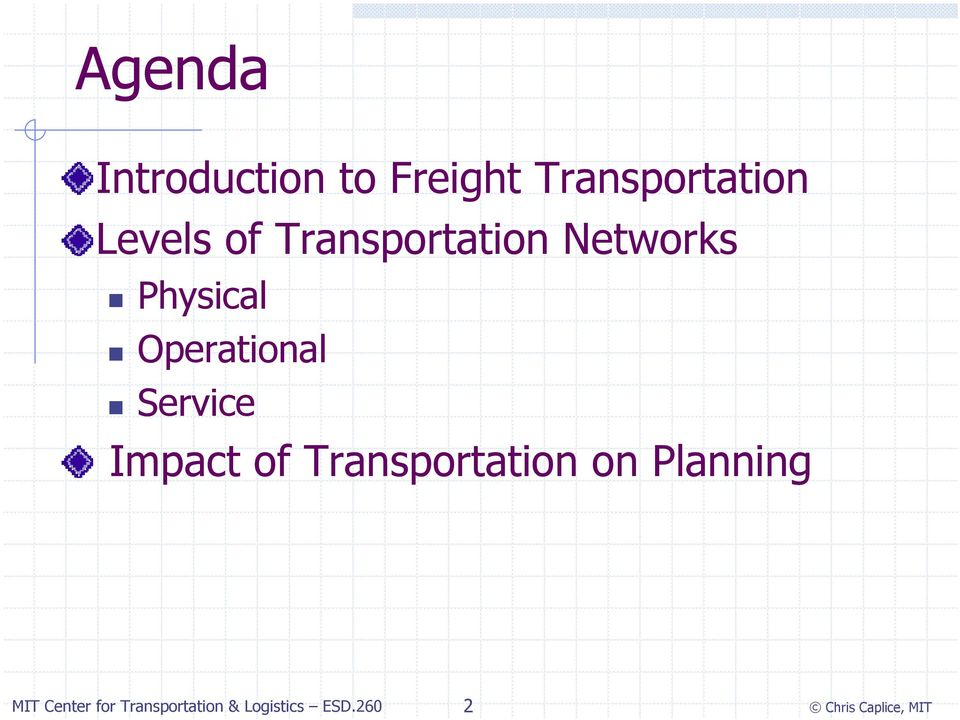 Transportation Networks Physical