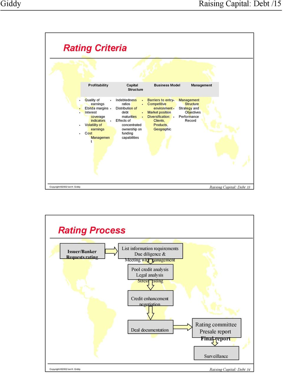 Diversification: Clients, Products, Geographic Structure Strategy and Objectives Performance Record Copyright 2002 Ian H.