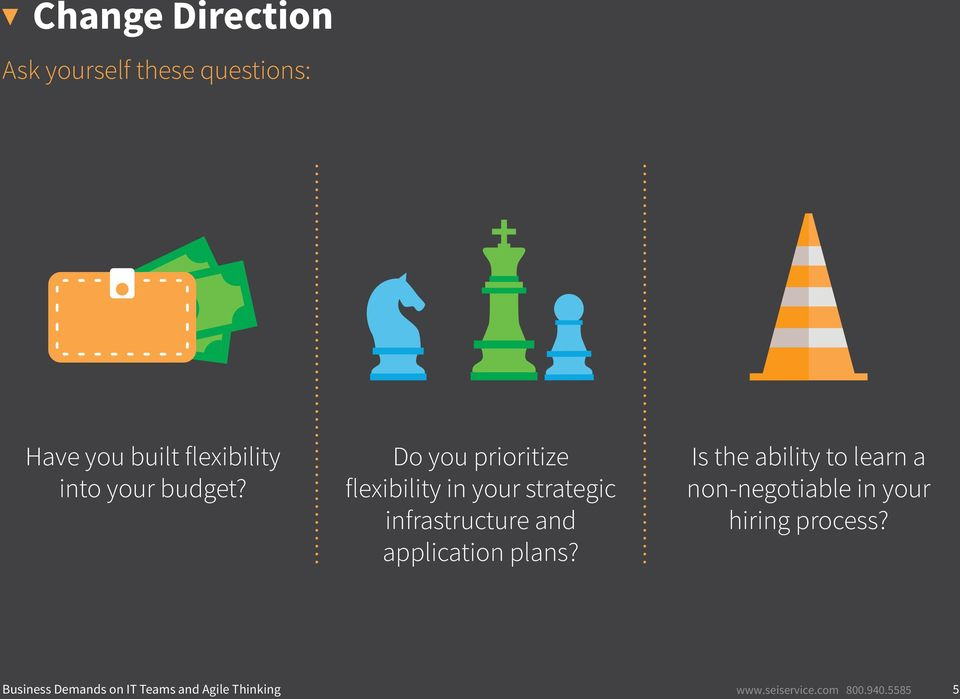 Do you prioritize flexibility in your strategic infrastructure and application