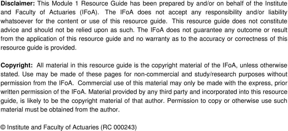 This resource guide does not constitute advice and should not be relied upon as such.
