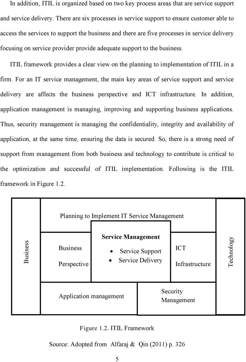 adequate support to the business. ITIL framework provides a clear view on the planning to implementation of ITIL in a firm.
