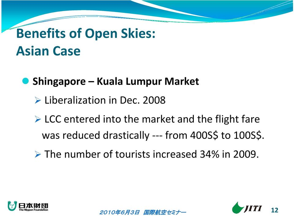 2008 LCC entered into the market and the flight fare was