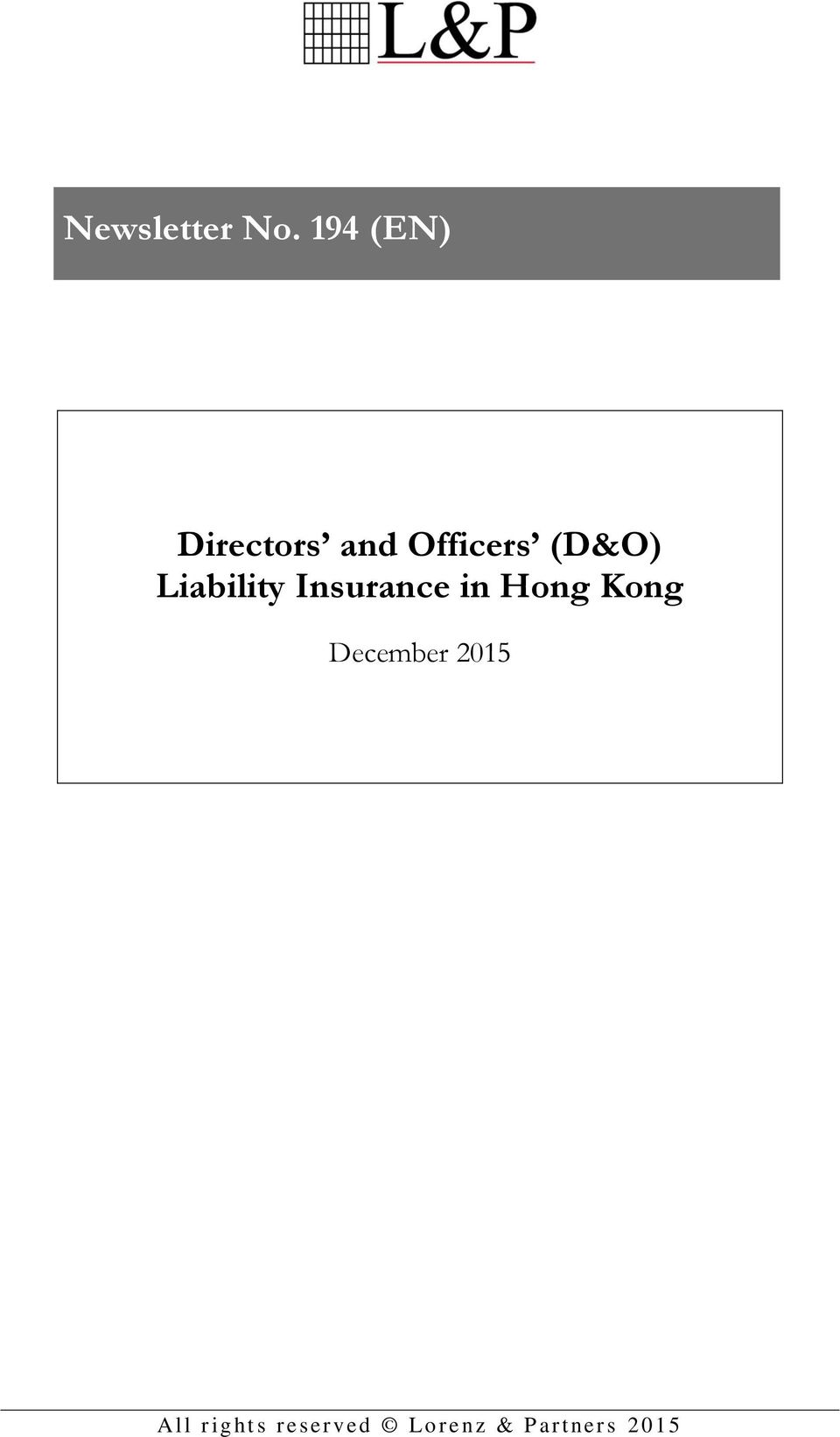 Liability Insurance in Hong Kong