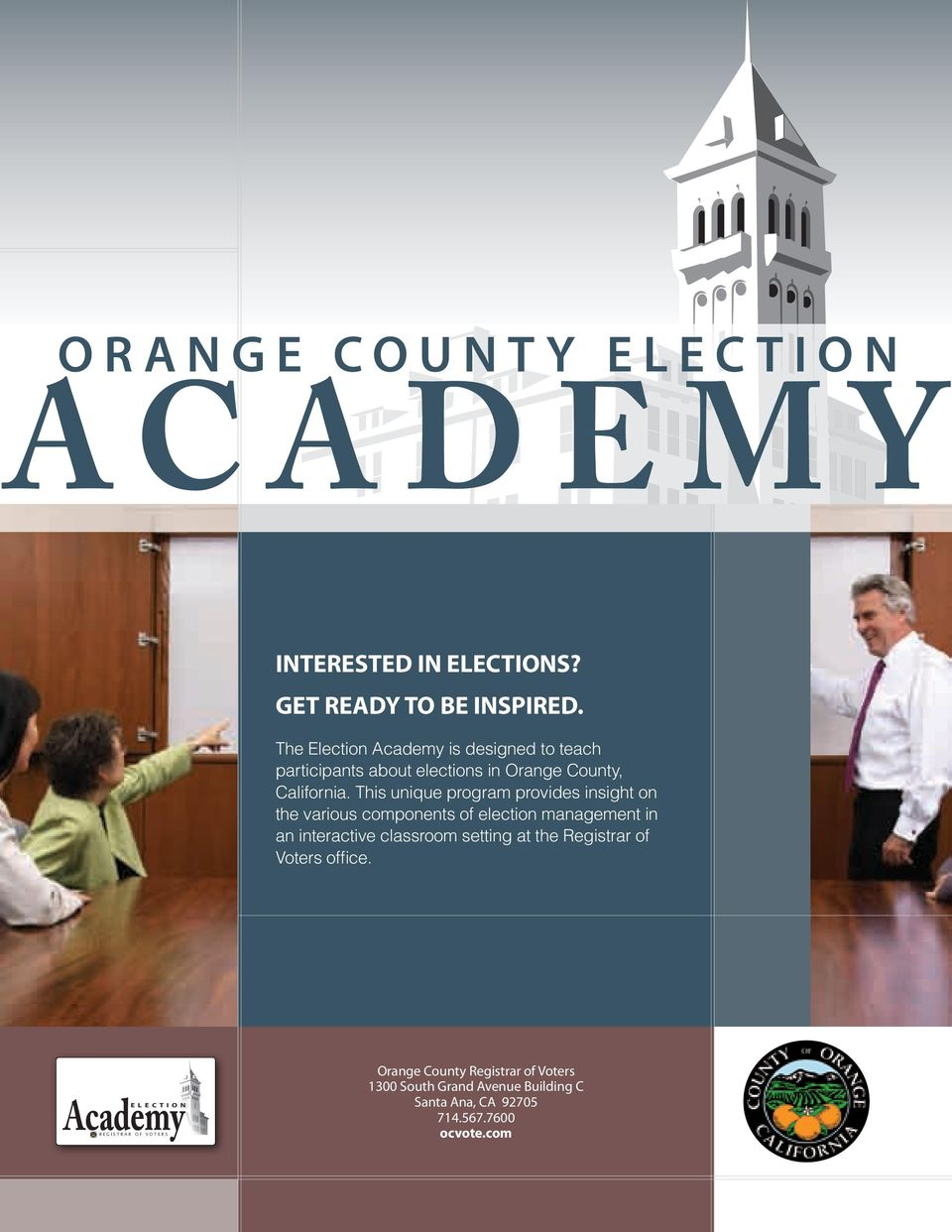 This unique program provides insight on the various components of election management in an interactive classroom setting at