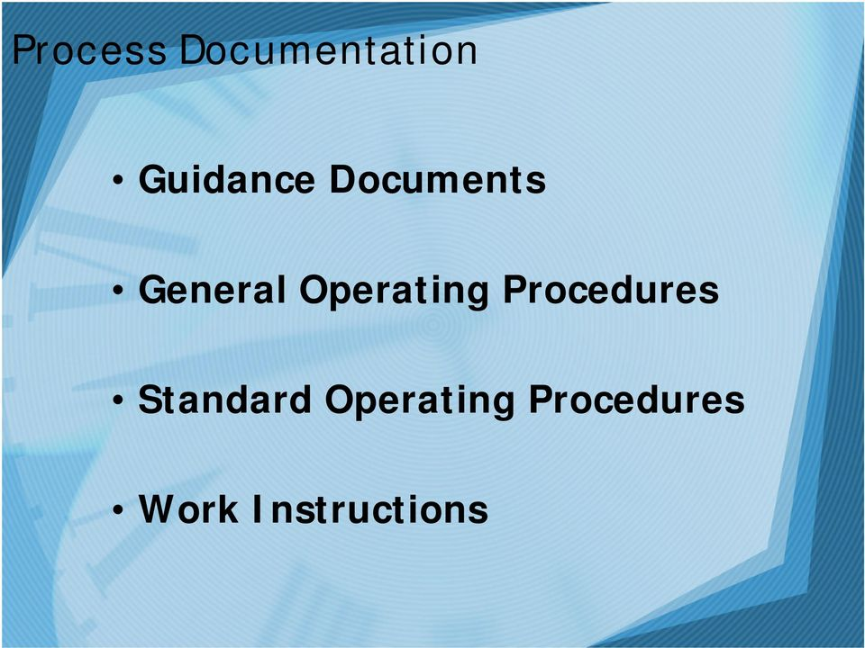 Operating Procedures Standard