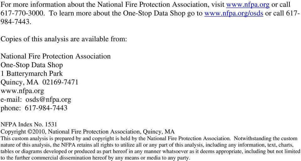 org phone: 617-984-7443 NFPA Index No.