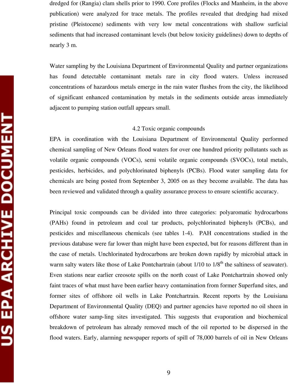 water quality assessment and monitoring in new orleans following hurricane katrina pdf