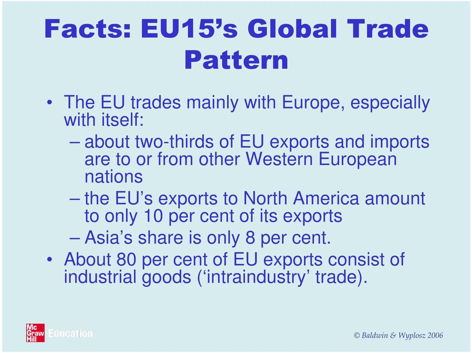 EU s exports to North America amount to only 10 per cent of its exports Asia s share is only