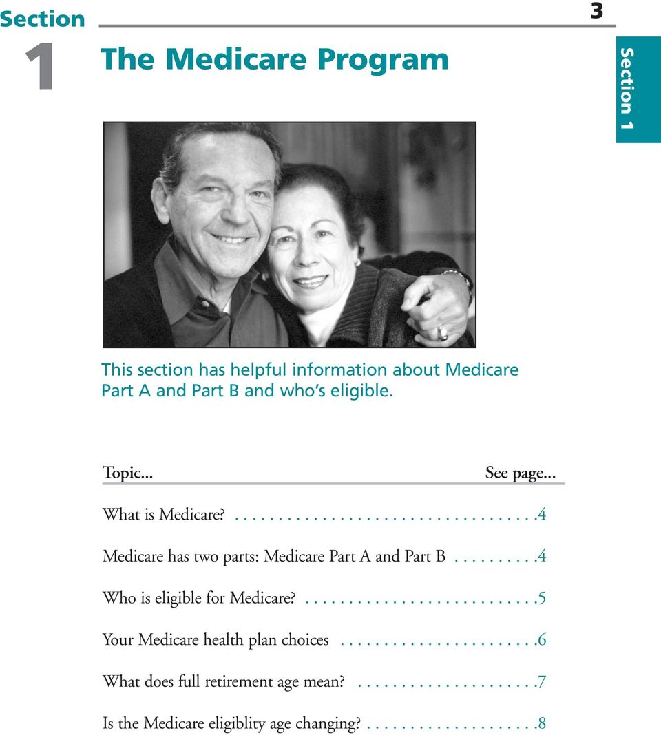 .........4 Who is eligible for Medicare?...........................5 Your Medicare health plan choices.