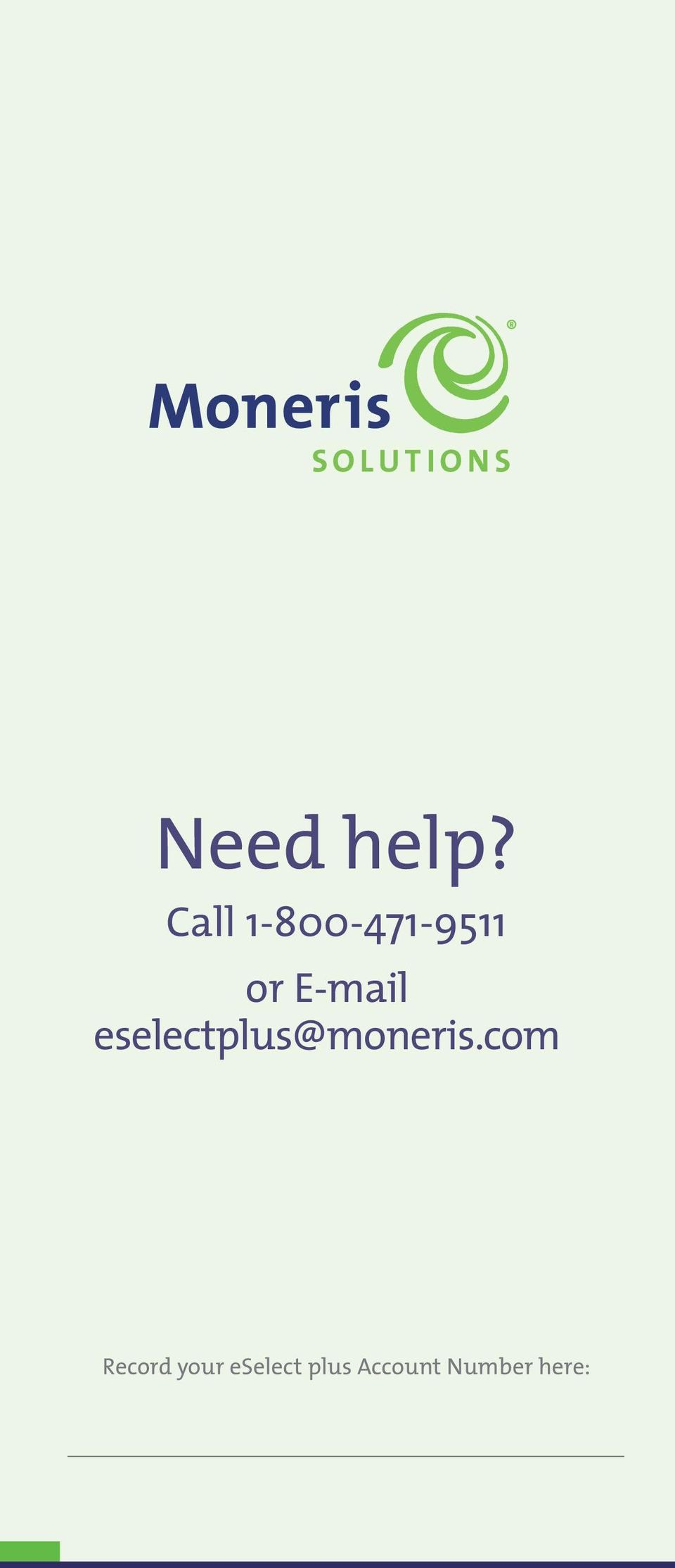 E-mail eselectplus@moneris.