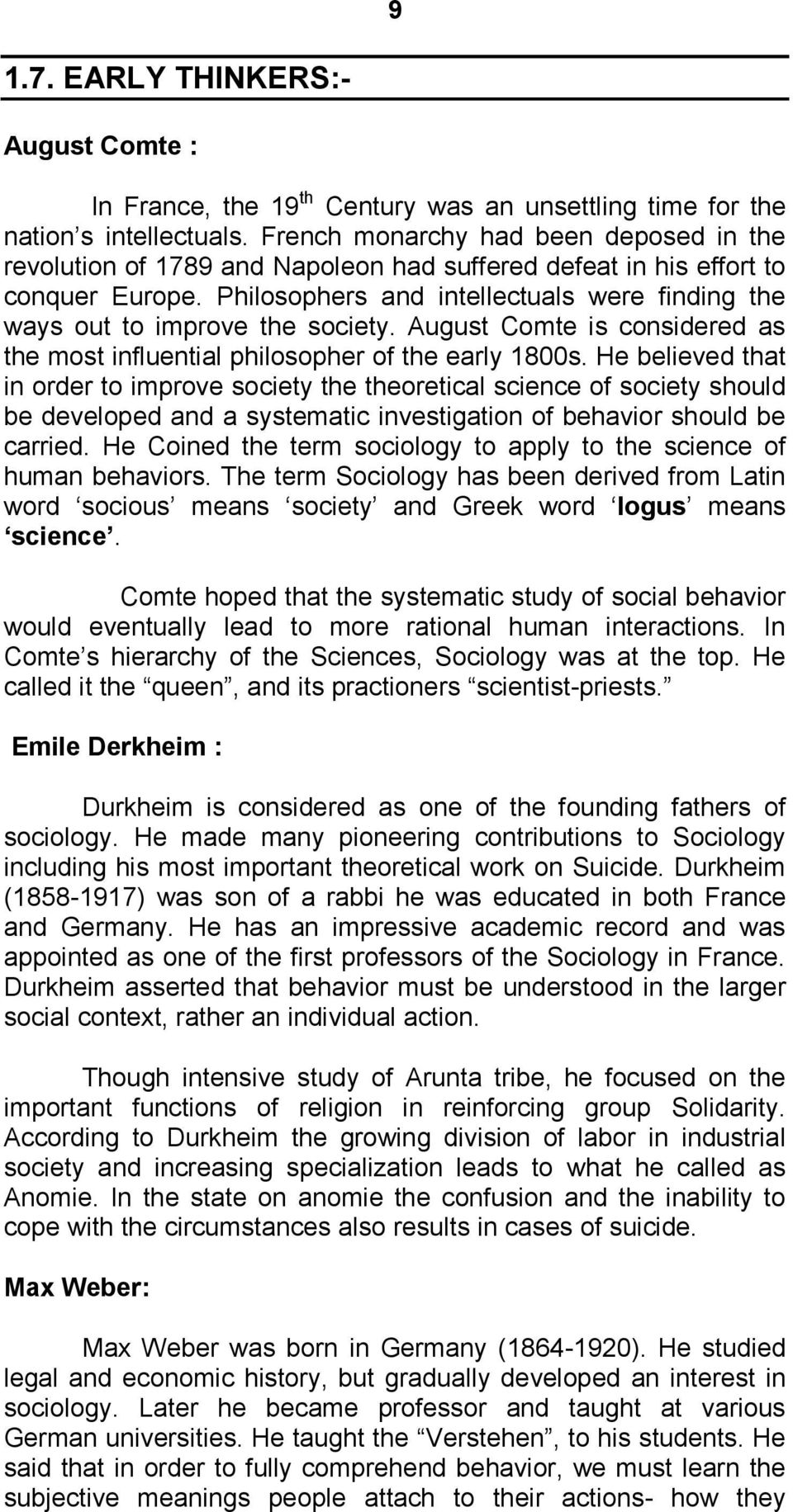 durkheim and poverty essay These characteristics include poverty, dilapidation, population density, and population turnover  as noted earlier, émile durkheim said deviance is normal, but.