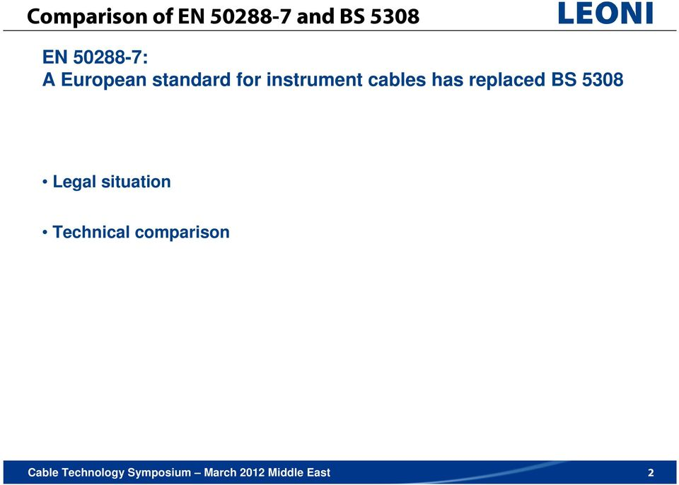 instrument cables has replaced BS