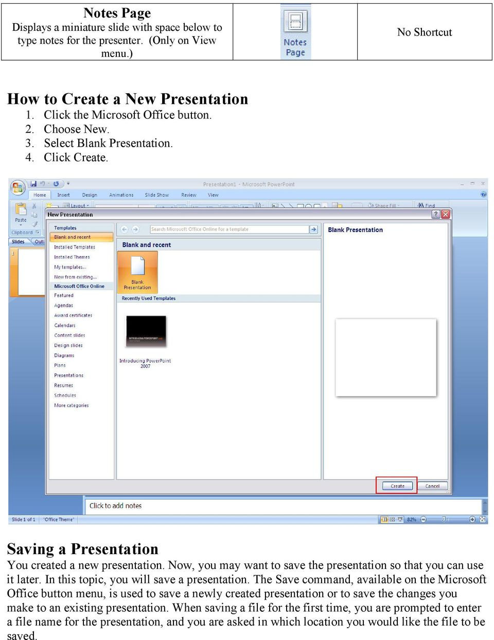 In this topic, you will save a presentation.