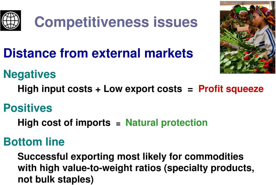 imports = Natural protection Bottom line Successful exporting most likely