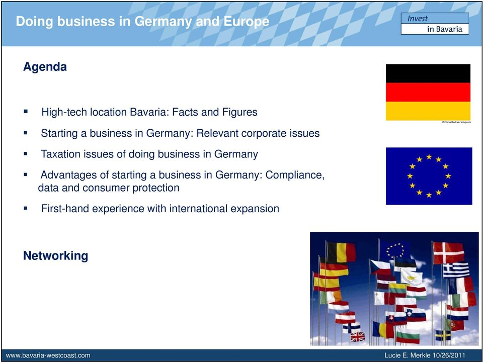Advantages of starting a business in Germany: Compliance, data and consumer protection First-hand