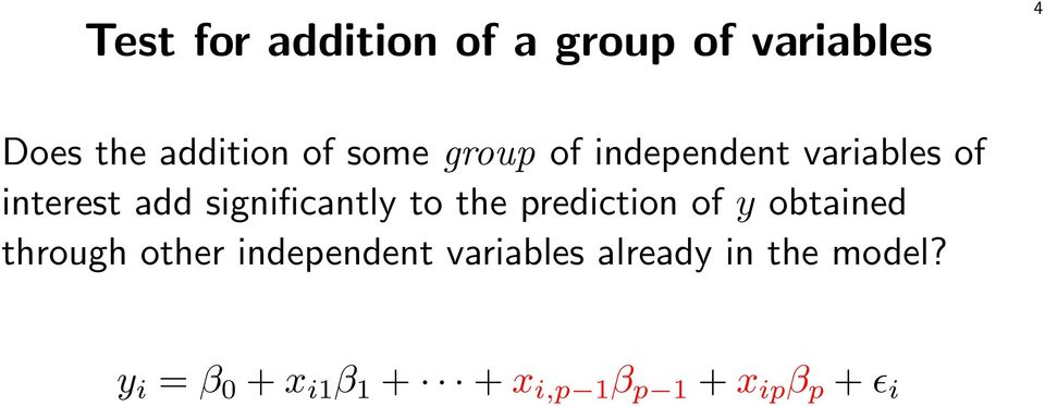 the prediction of y obtained through other independent variables