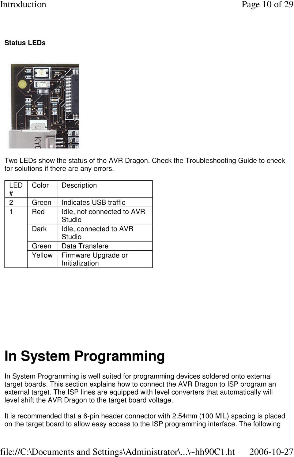 System Programming In System Programming is well suited for programming devices soldered onto external target boards.