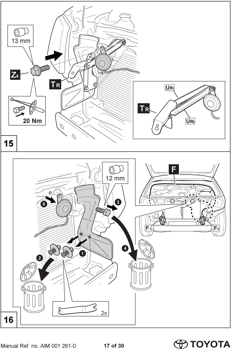 Hilux driving lamp installation instructions model year .