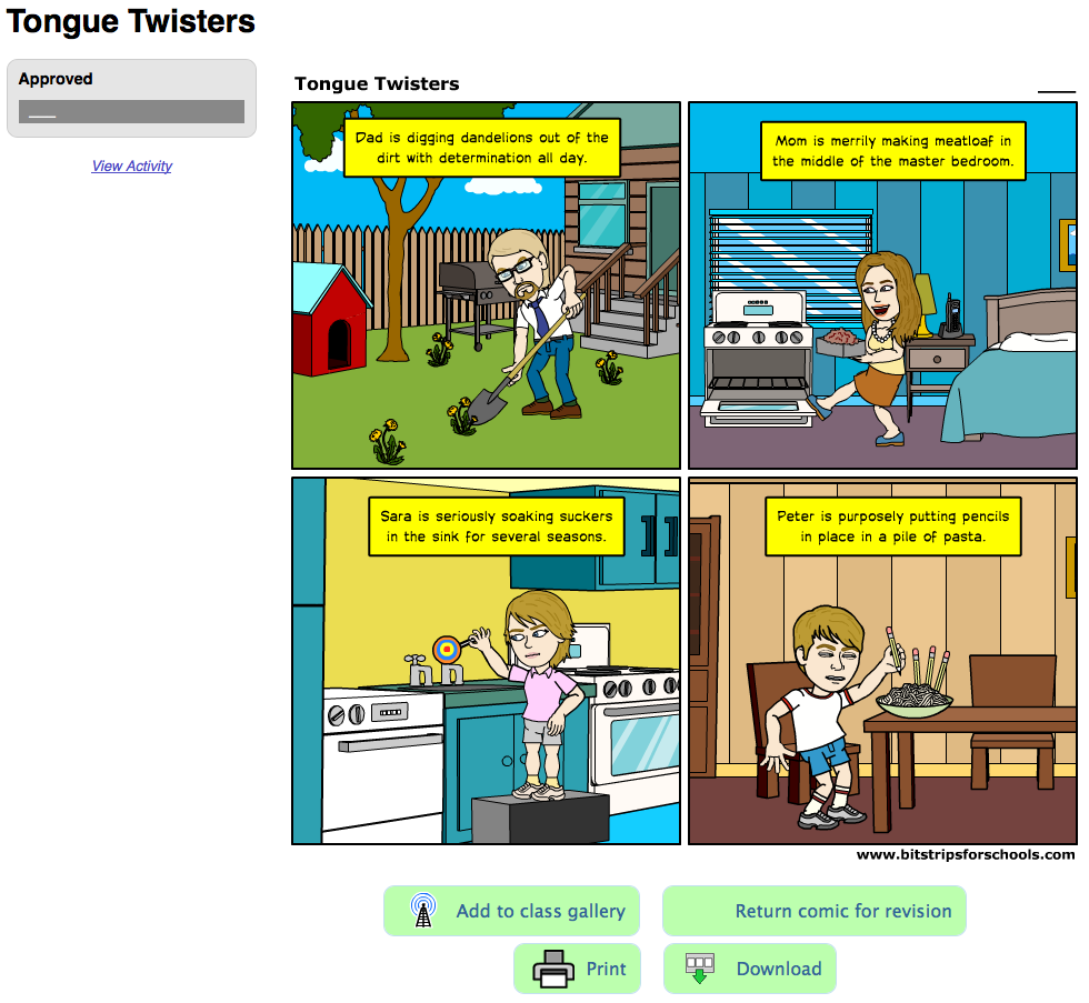 Sharing comics on your class gallery Learn how to add student comics to the class gallery so classmates can read and comment on each other's work Load a comic and