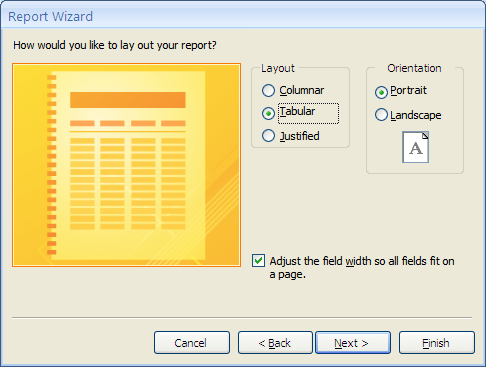 9. Creating Reports Although you can print off a query to have a paper copy of the information you require, the results will be tabulated simply and cannot be formatted.