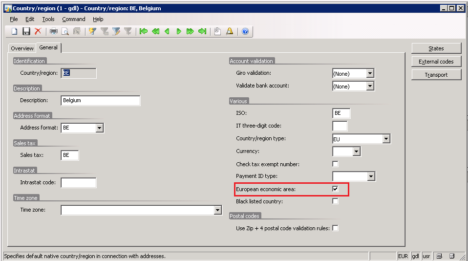 Setup Before you can create SEPA export files, you must set up the method of payment, company, and bank account information in Microsoft Dynamics AX.