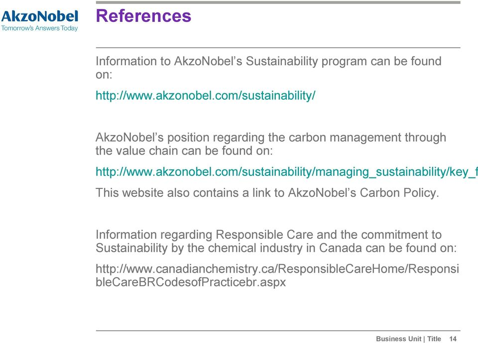 environmental management case study of akzonobel Valuation shares board of management akzonobel on the capital markets environmental case studies case studies our businesses.