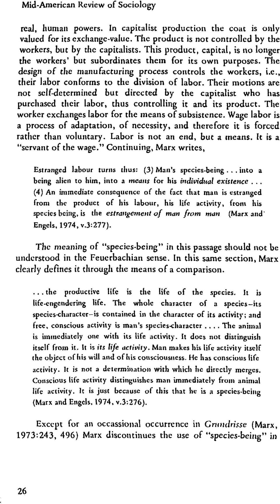 an introduction to marxs notion of man as a species being and alienation Emancipation and the limits of marxs cosmopolitan imaginary  and species-being in the so-called transitional  alienation: marx's conception of man in.
