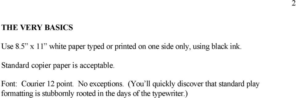 Standard font type for essays