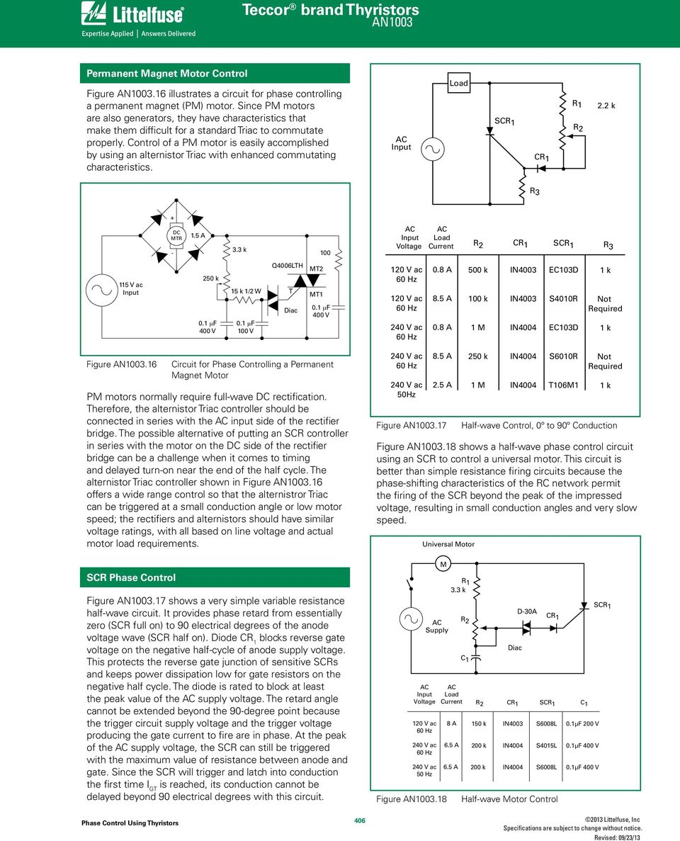 Phase Control Using Thyristors Pdf Time Delay Circuit A Ujt And Two Scrs Diagram Of Pm Motor Is Easily Accomplished By An Alternistor With Enhanced Commutating Characteristics