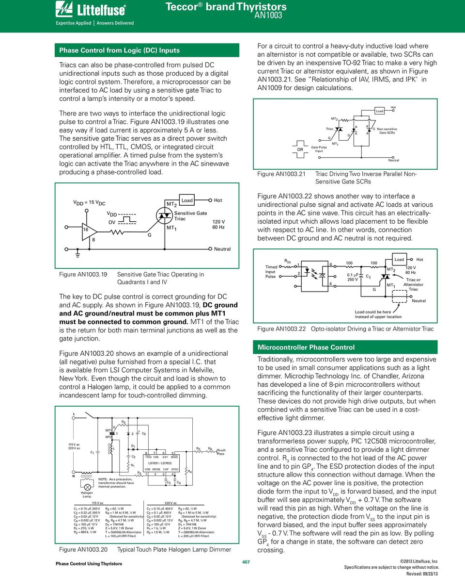 Phase Control Using Thyristors Pdf Basic Snubber Circuit Used With A Triac There Are Two Ways To Interface The Unidirectional Logic Pulse Figure