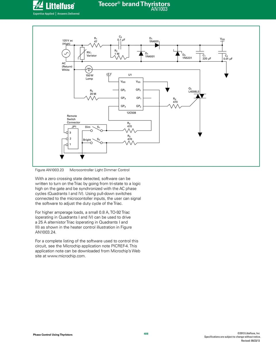 Phase Control Using Thyristors Pdf Related Circuits Scr Pulse Detection Circuit 555 Based 23 Microcontroller Light Dimmer With A Zero Crossing State Detected Software Can Be Written To